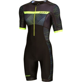 Zone3 Activate+ Combinaison de triathlon manches courtes Homme, revolution/black/green